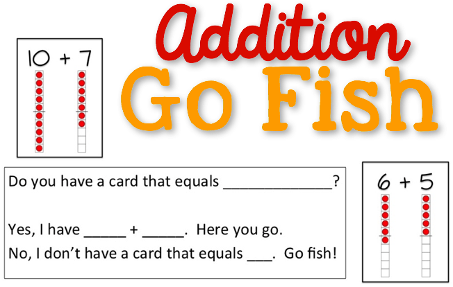 Addition go fish video ten strips freebie for The rules of go fish