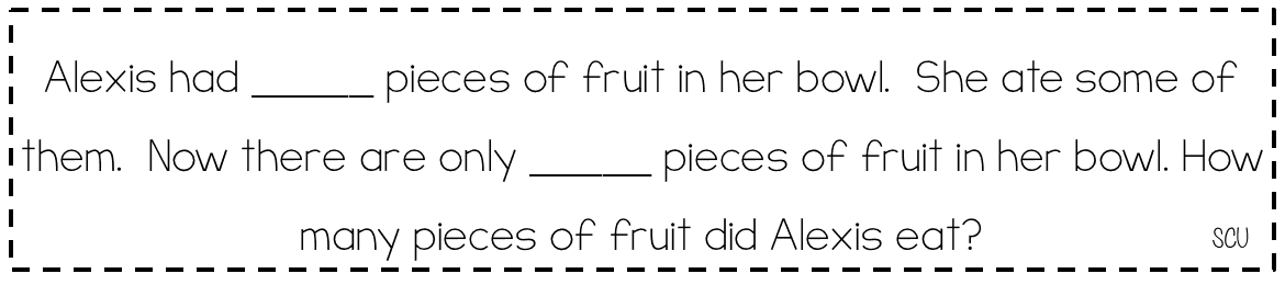 Addition and Subtraction Word Problems Grouped by Problem Type – Kindergarten Word Problem Worksheets