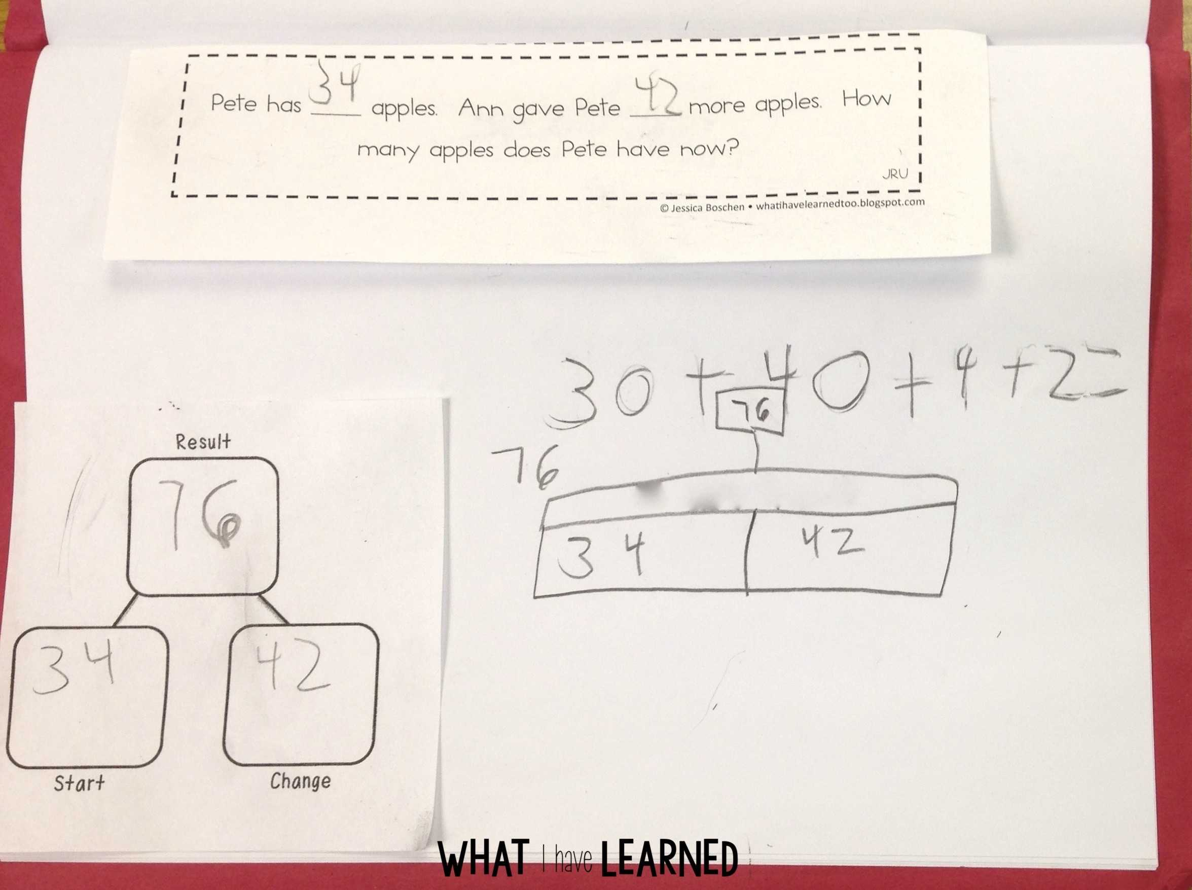 Addition and Subtraction Word Problems Grouped by Problem Type