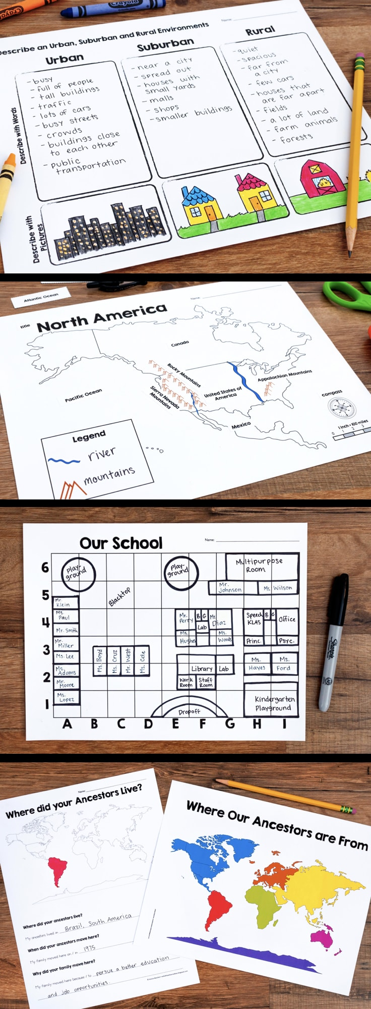 North America Map Skills Worksheets - Us map skills worksheets