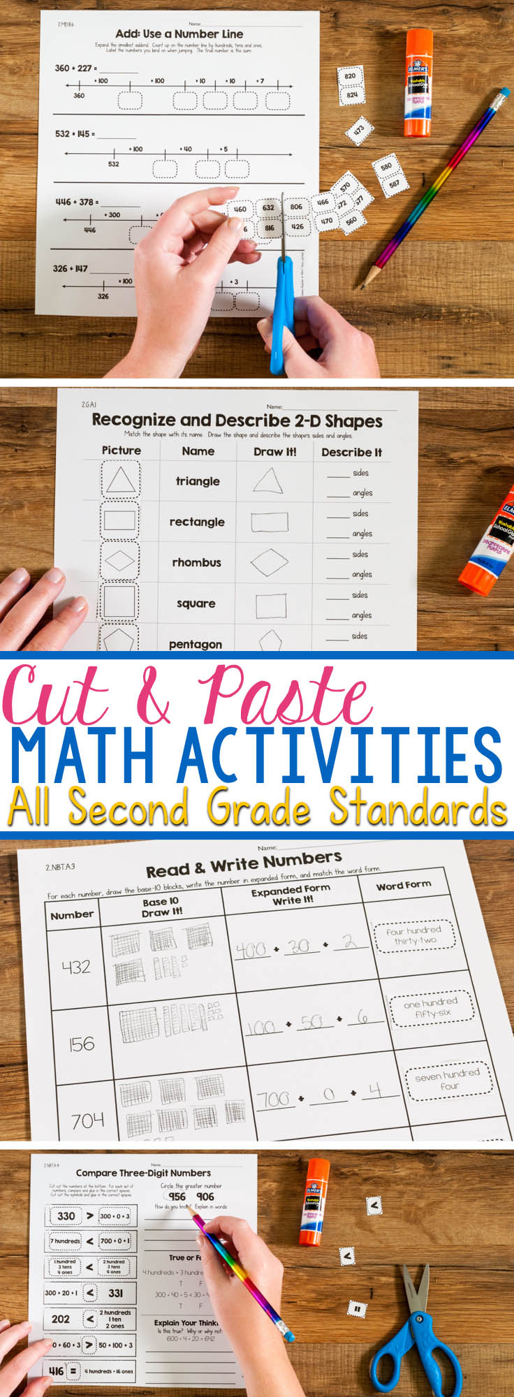 Uncategorized Math Cut And Paste Worksheets cut paste math activities for every second grade standard and are more than just a worksheet these