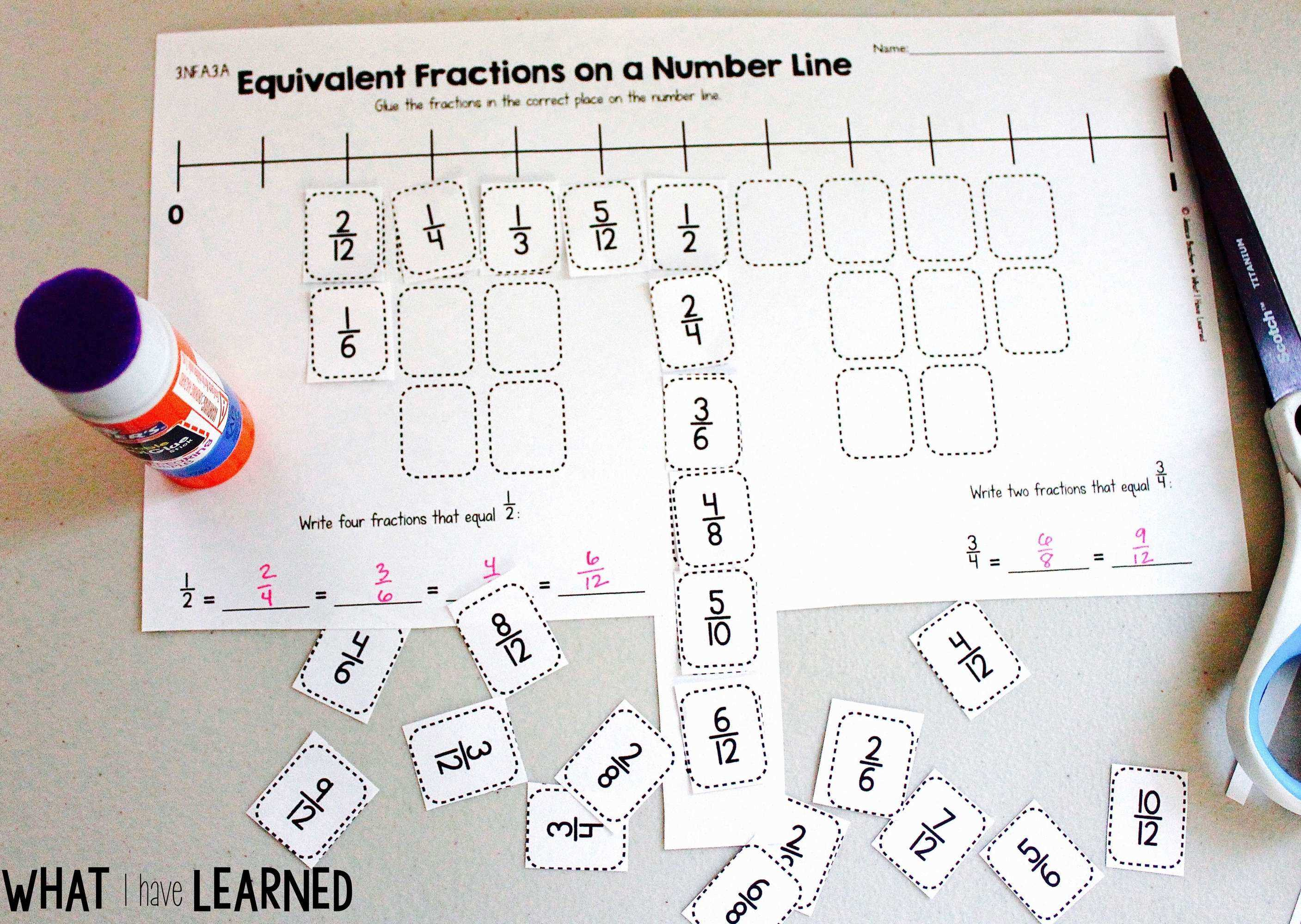 photo about Fractions on a Number Line Game Printable named Lower Paste 3rd Quality Math Pursuits