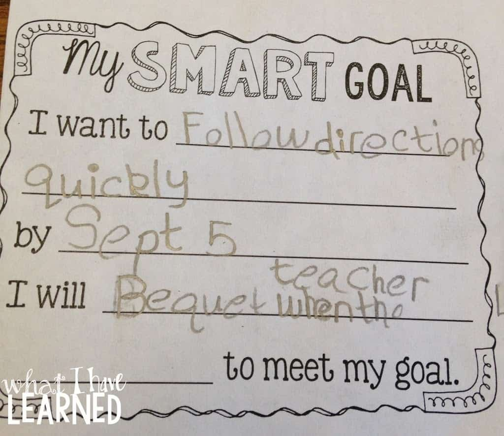 Student Goal Setting in Elementary School