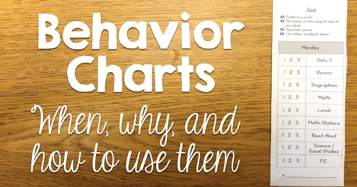 Behavior Charts When Why And How To Use Them