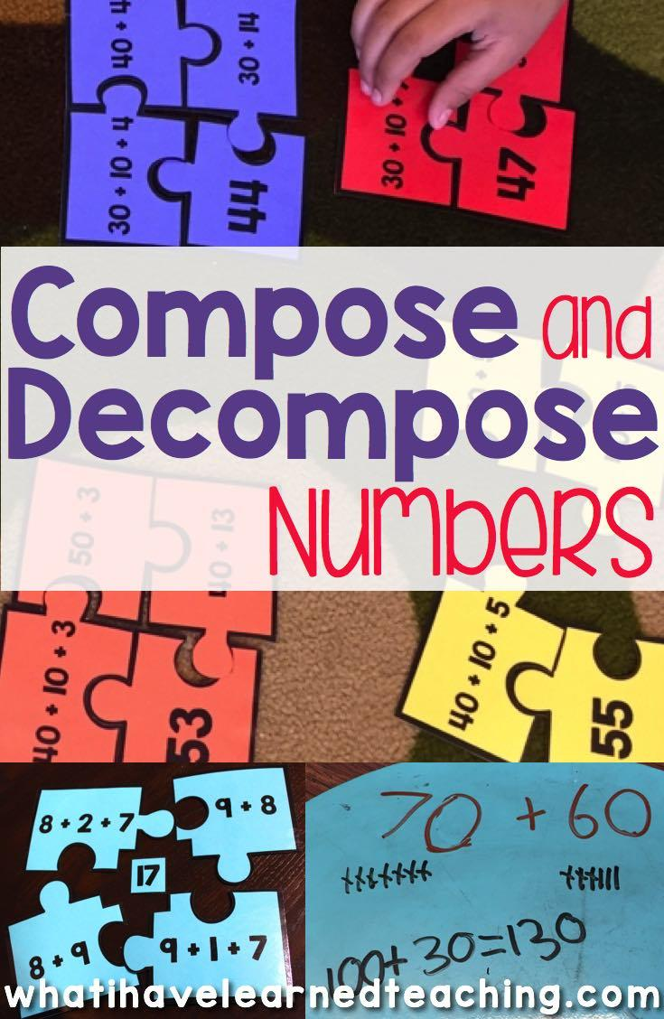 Compose Decompose Numbers for Addition Subtraction – Composing and Decomposing Numbers Worksheet