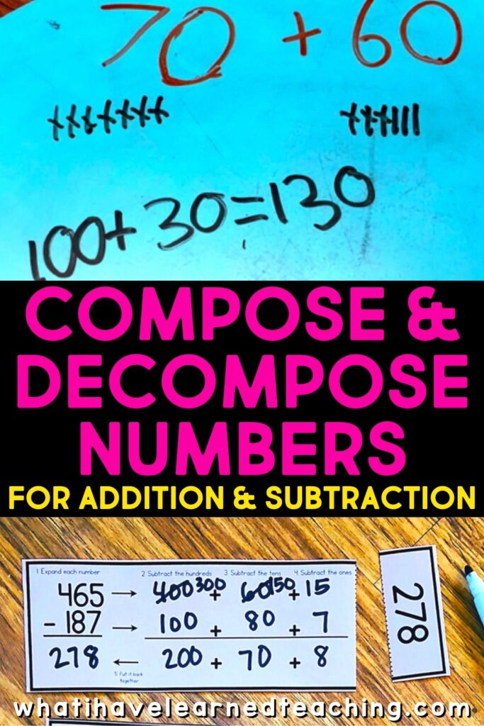 Compose Decompose Numbers For Addition Subtraction