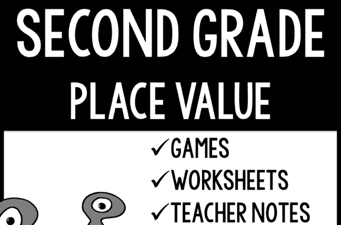 Review - Second Grade Place Value from Learning to Be Awesome