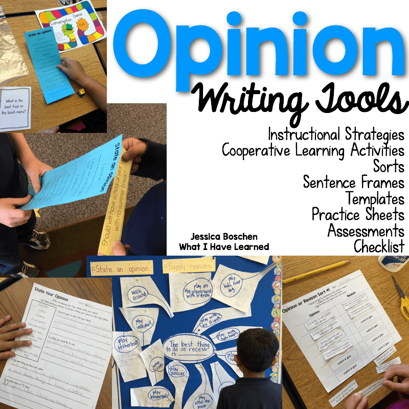 Opinion Writing What I Have Learned