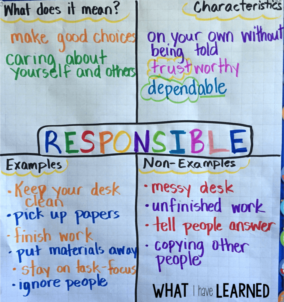 What Does A Stem Elementary School Look Like: Teach Responsibility In The Elementary Classroom