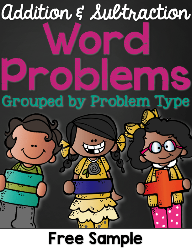 free word problems for 1st grade
