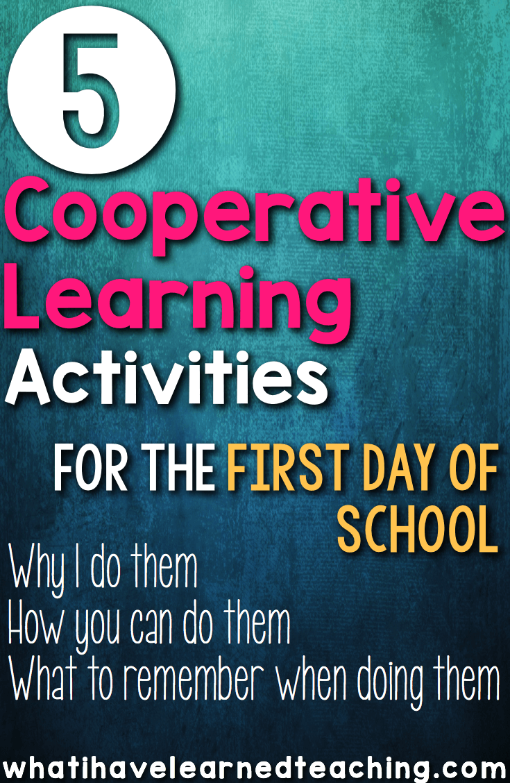 Collaborative Learning Classroom Activities ~ Five cooperative learning activities to do on the first