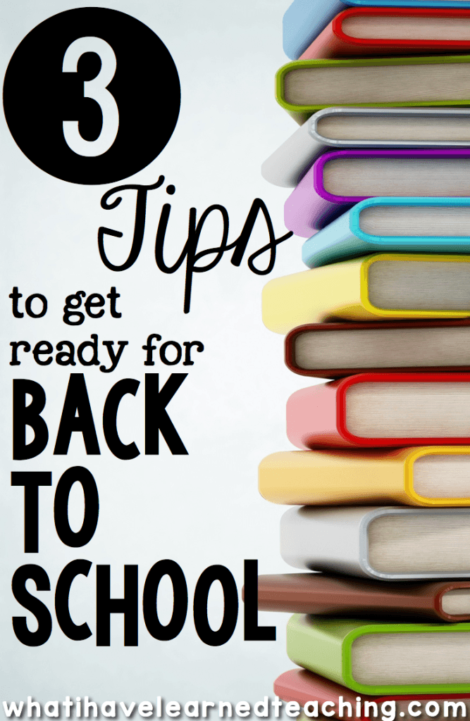 how to prepare for the first day of school