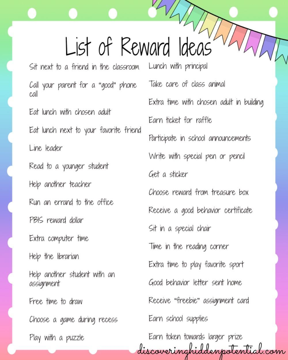 Classroom Reward Ideas Elementary ~ Strategies for your behavior toolkit