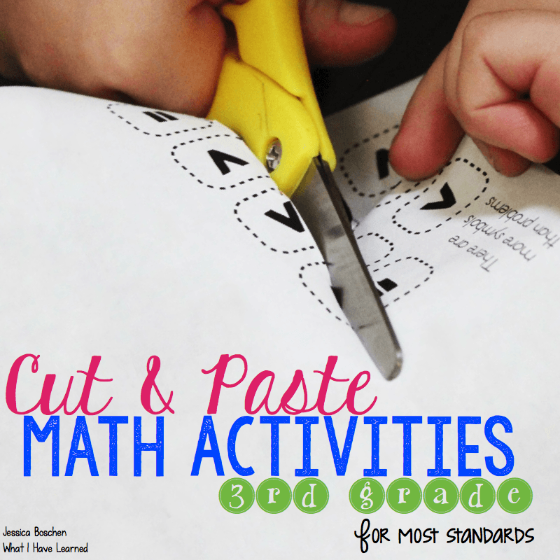 Cut And Paste Math Activities For Third Grade What I Have Learned