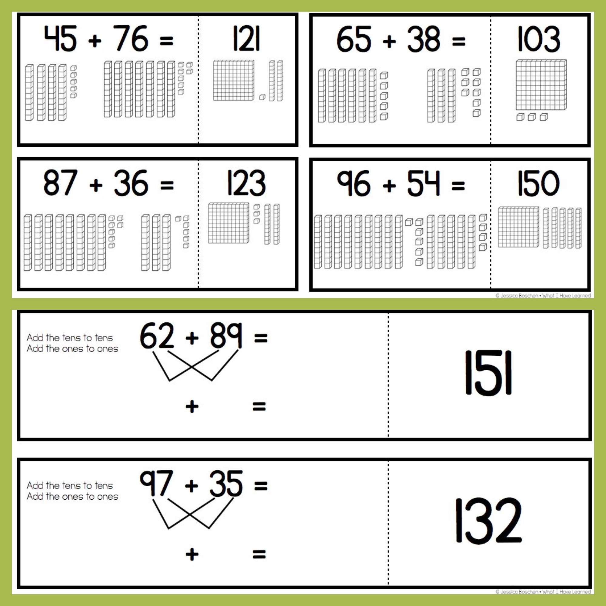 Two-Digit Addition Task Cards, Assessments, Activities, & Games ...