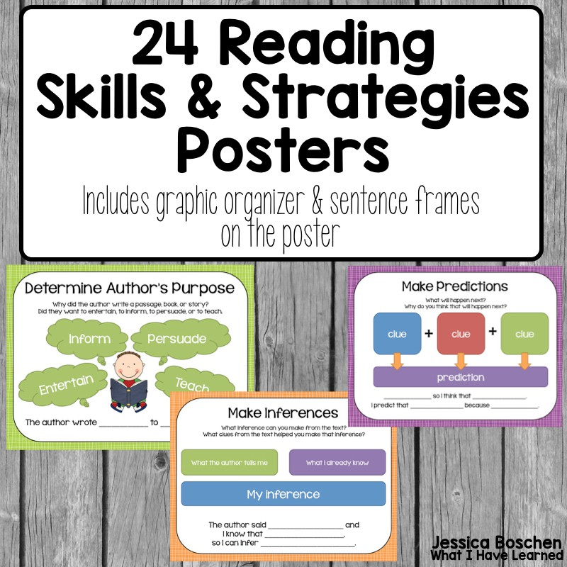 reading comprehension posters $ 7 00 reading comprehension posters for ...