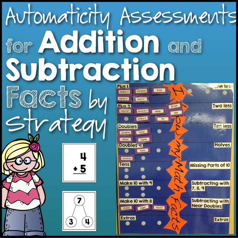Automaticity Assessments for Addition & Subtraction Facts by ...