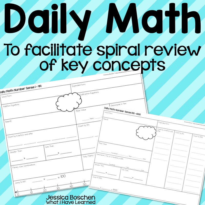 Daily Math - Number Sense, Addition & Subtraction, Time & Money ...