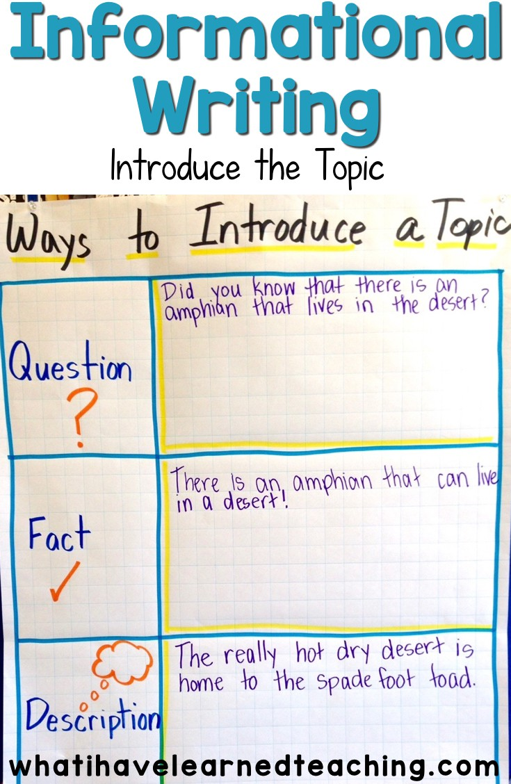 Topics to write about informational essays