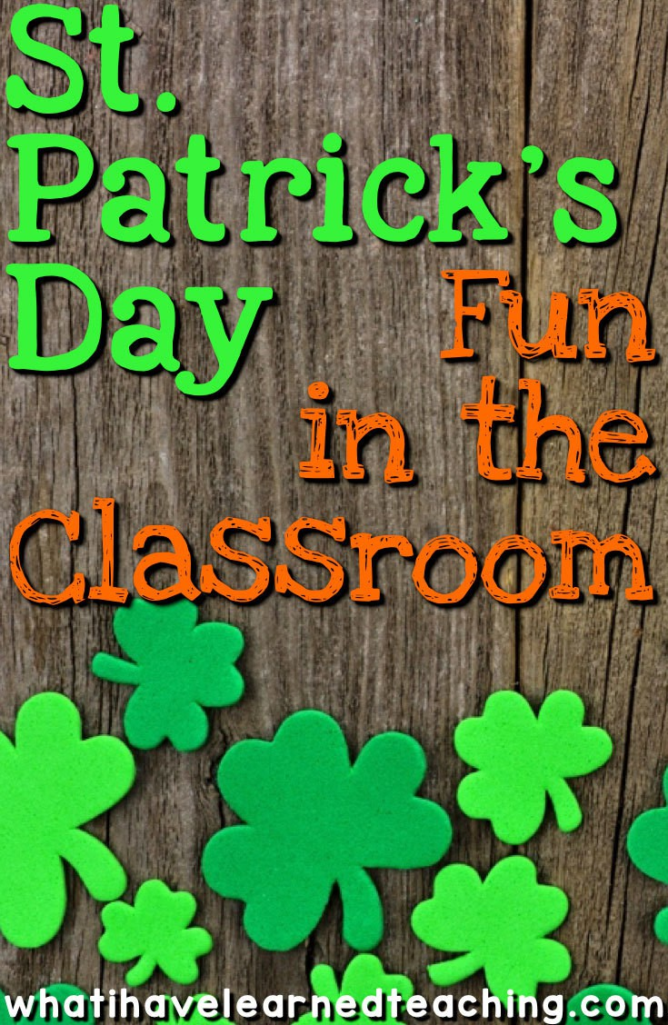 st patrick u0027s day fun in the classroom