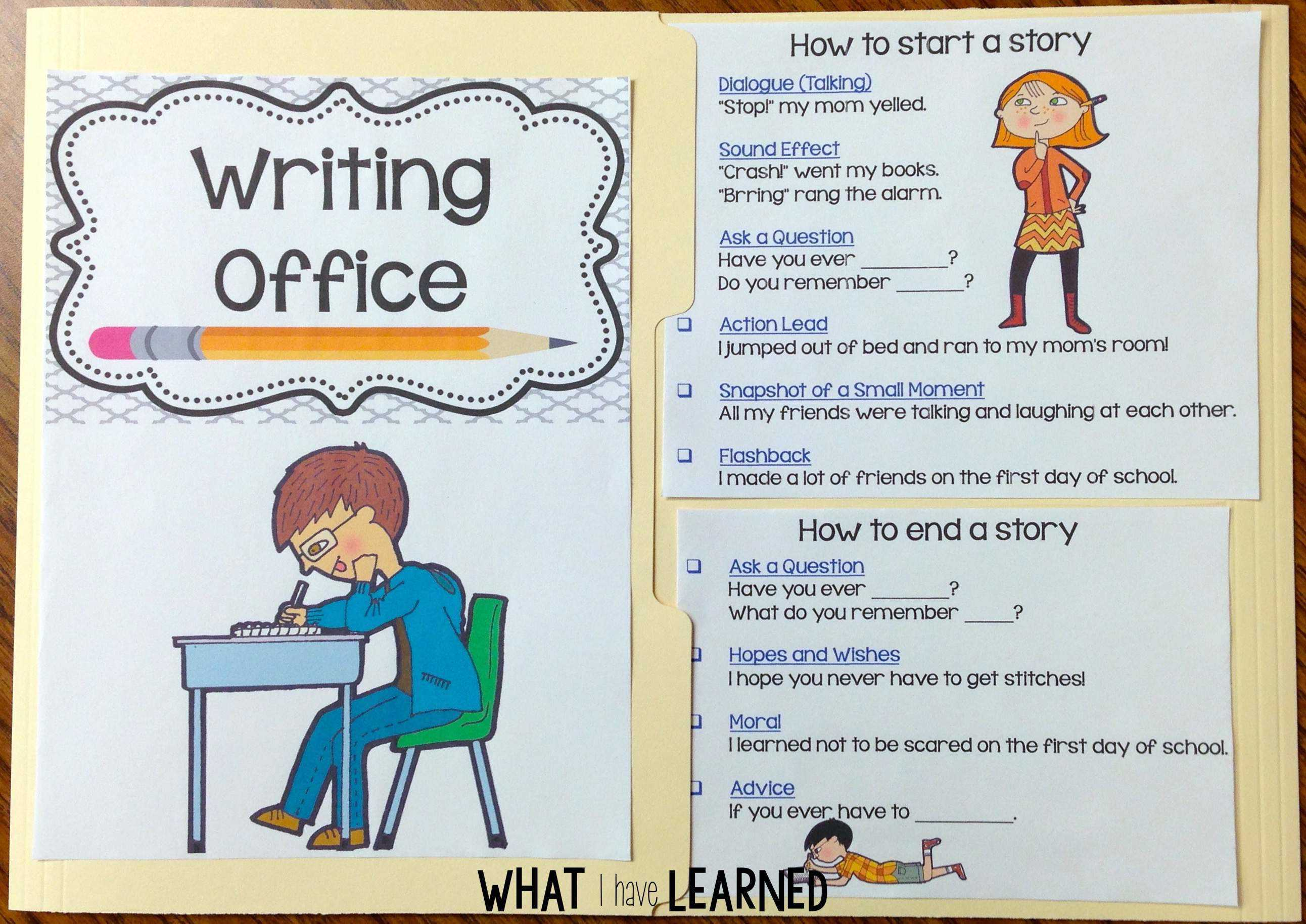 Writing Offices For First And Second Grades What I Have Learned