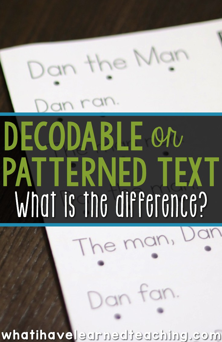photo regarding Printable Decodable Books for First Grade referred to as Decodable Terms vs. Predictable or Patterned Words and phrases