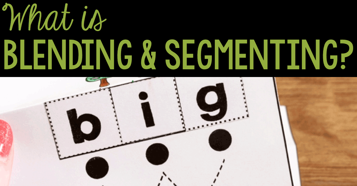Classroom Design Preschool ~ Tips for student success when blending and segmenting words