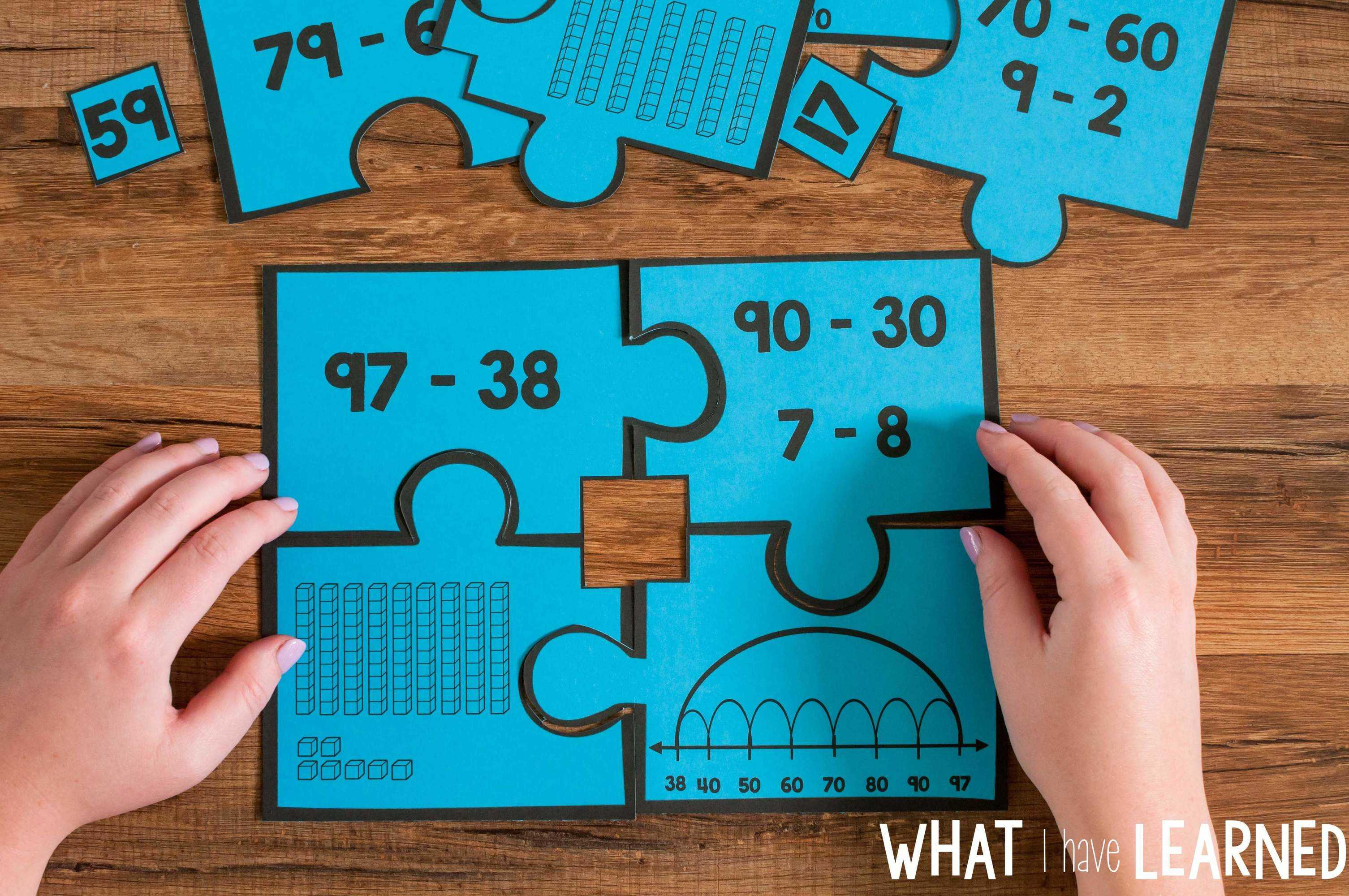 Number Puzzles Bundle for Second Grade • What I Have Learned