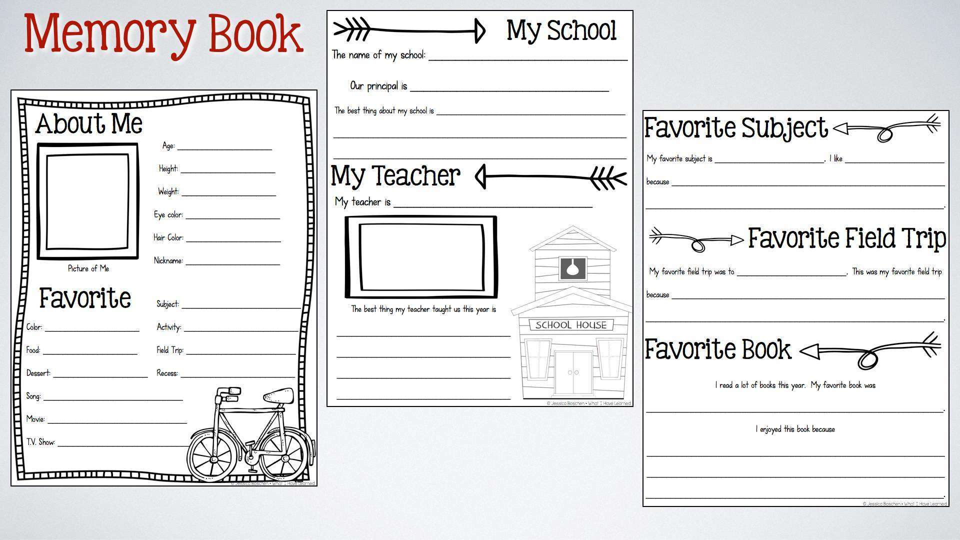 This memory book is perfect to keep your students busy during the last ...
