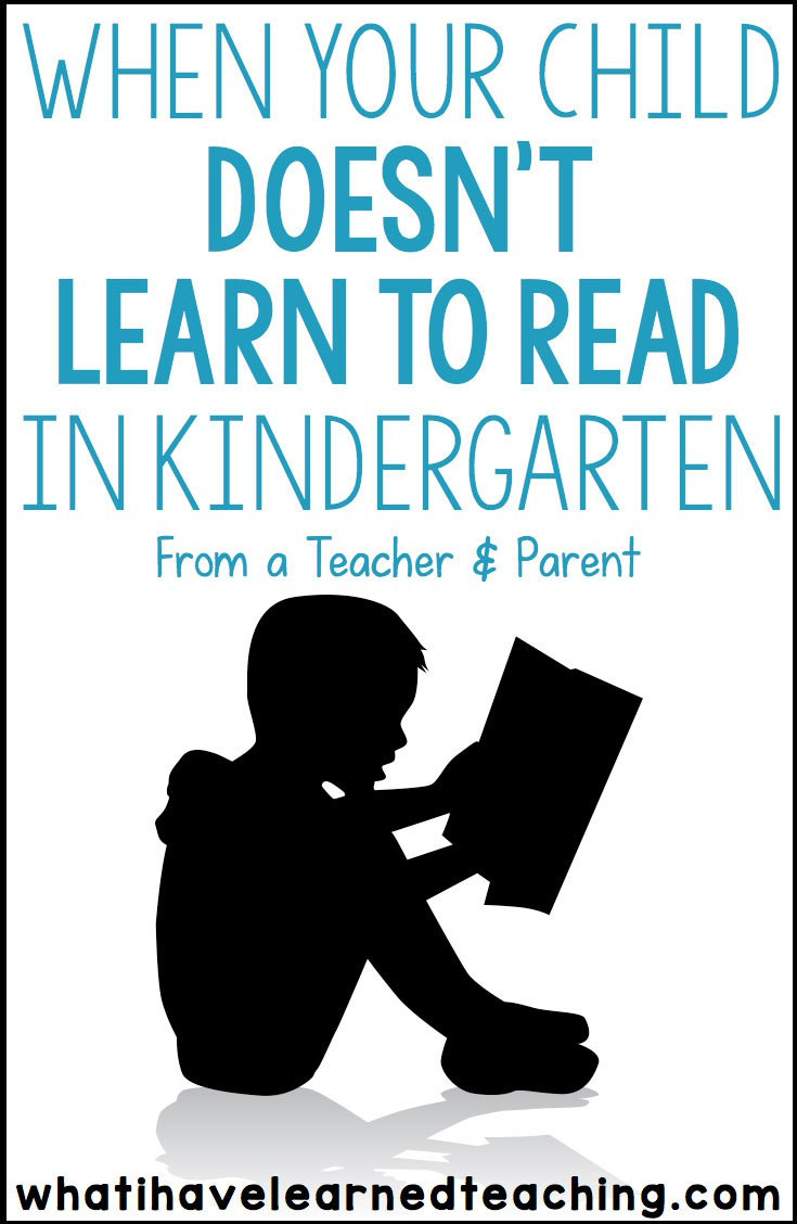 Parents Why Our Second Grader Is Not >> When Your Child Doesn T Learn To Read In Kindergarten