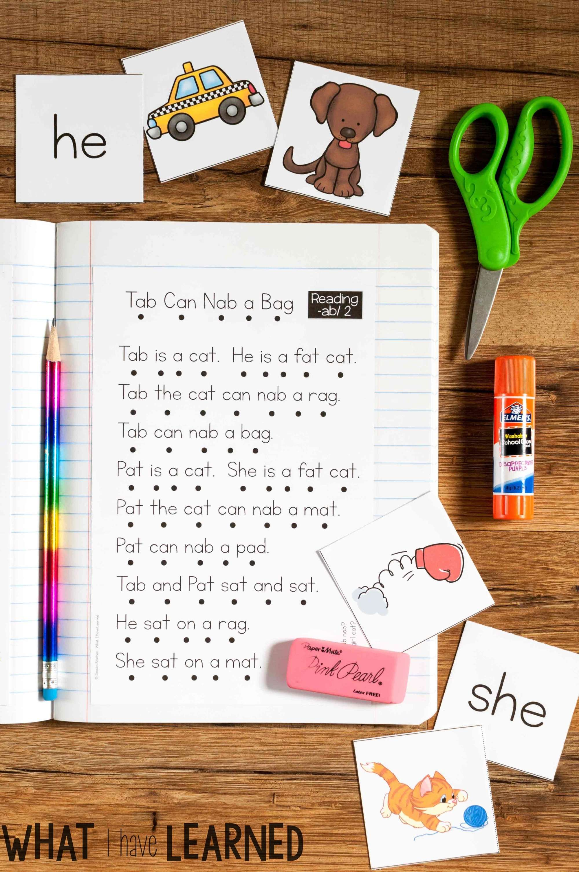 great measured read ip teaching out word stick reading for i mats these short part of n mom the printables s family sound check free mat