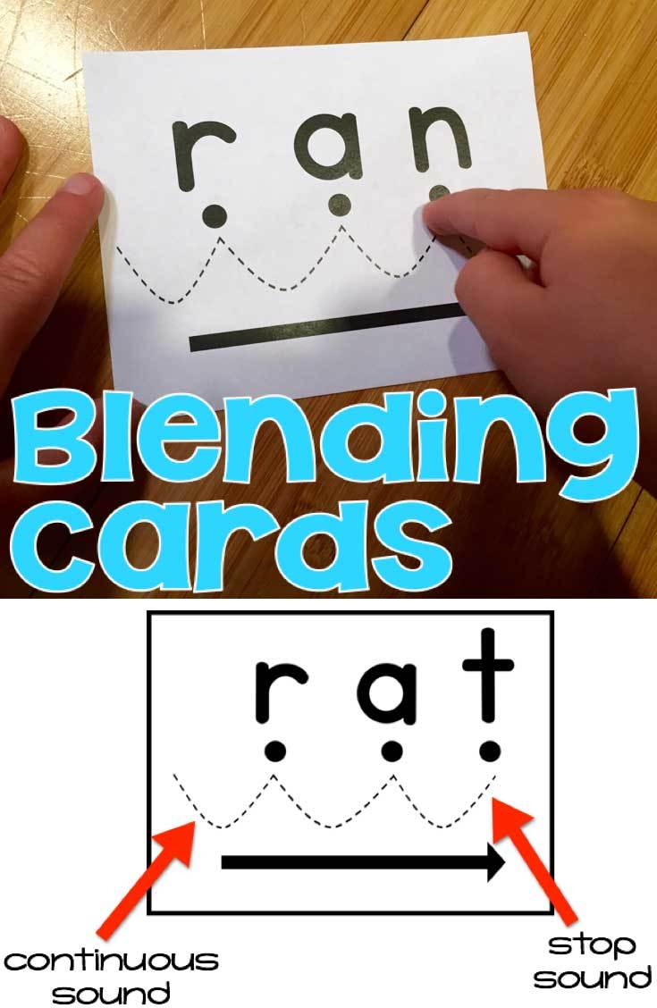 Workbooks r blend worksheets : Blending Cards for Early Readers