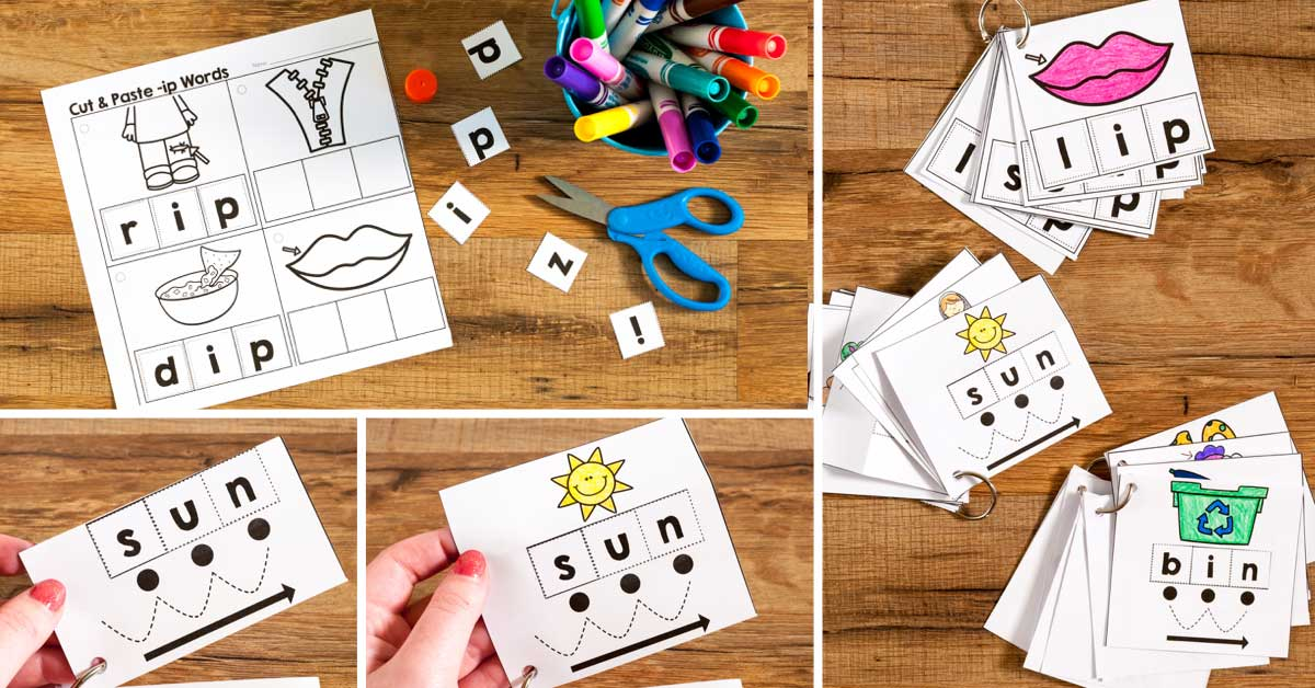 Classroom Design Second Grade ~ Cvc cut paste worksheets phonics cards