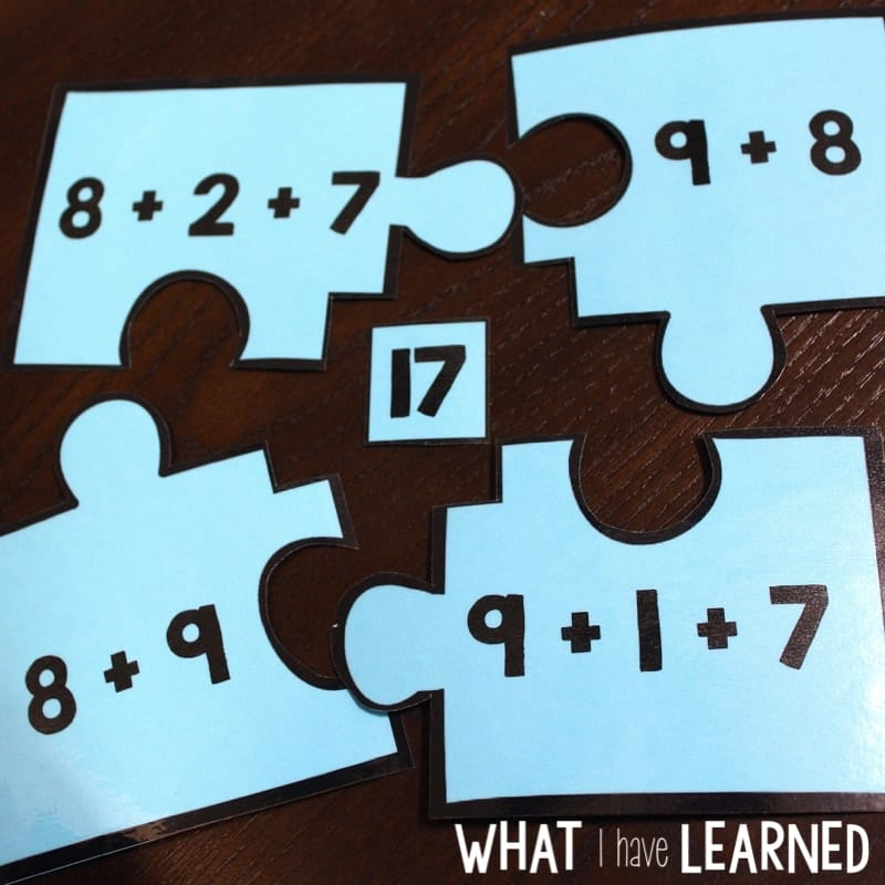 Using 10 to Add (+9 and +8) Games & Activities