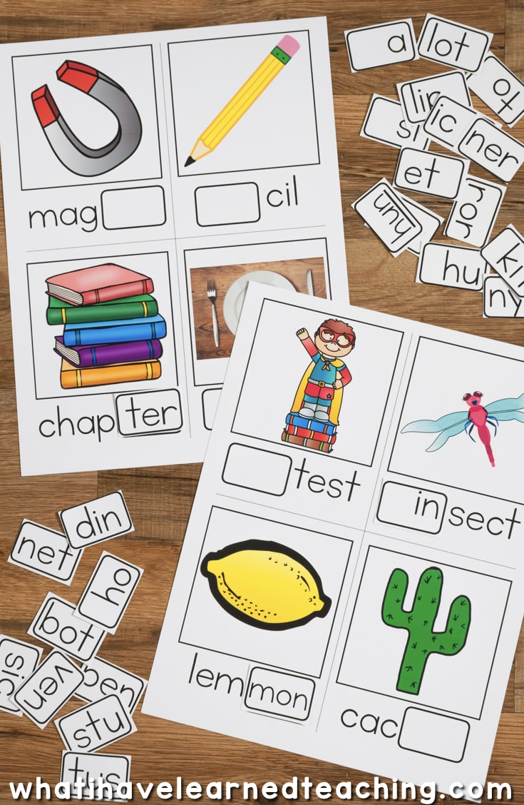 worksheet Open And Closed Syllables Worksheets open and closed syllables games activities are an important reading component practicing with makes