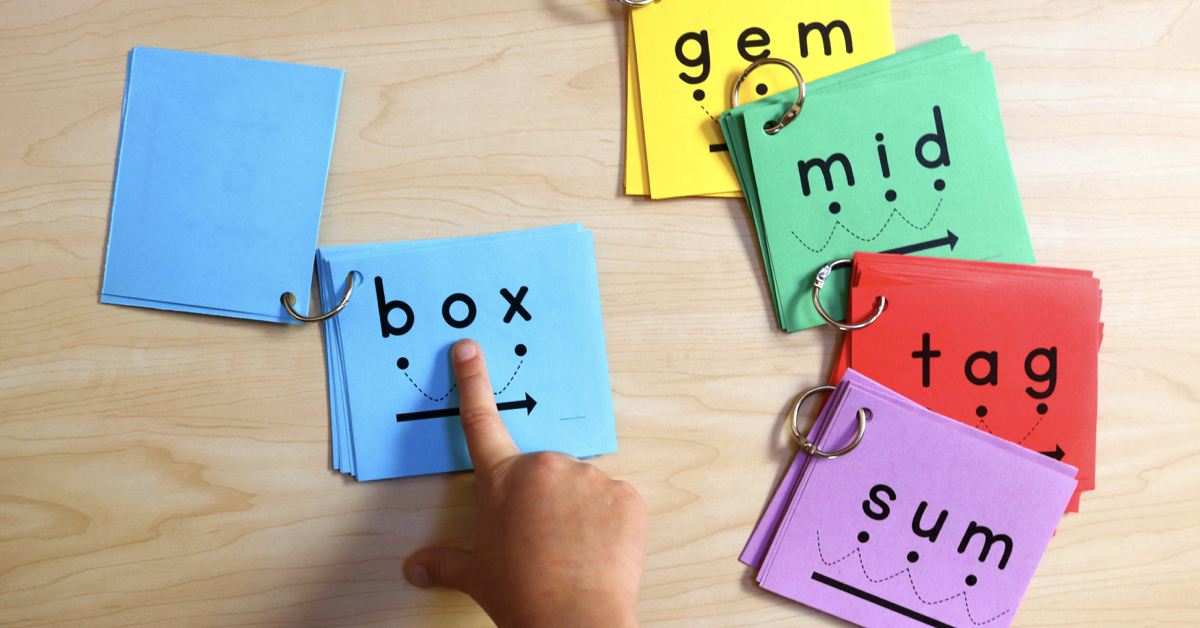 Classroom Design For Literacy ~ Blending cards for early readers