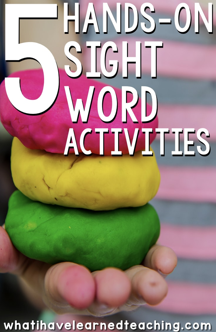 5 Hands On Sight Word Activities For Kindergarten