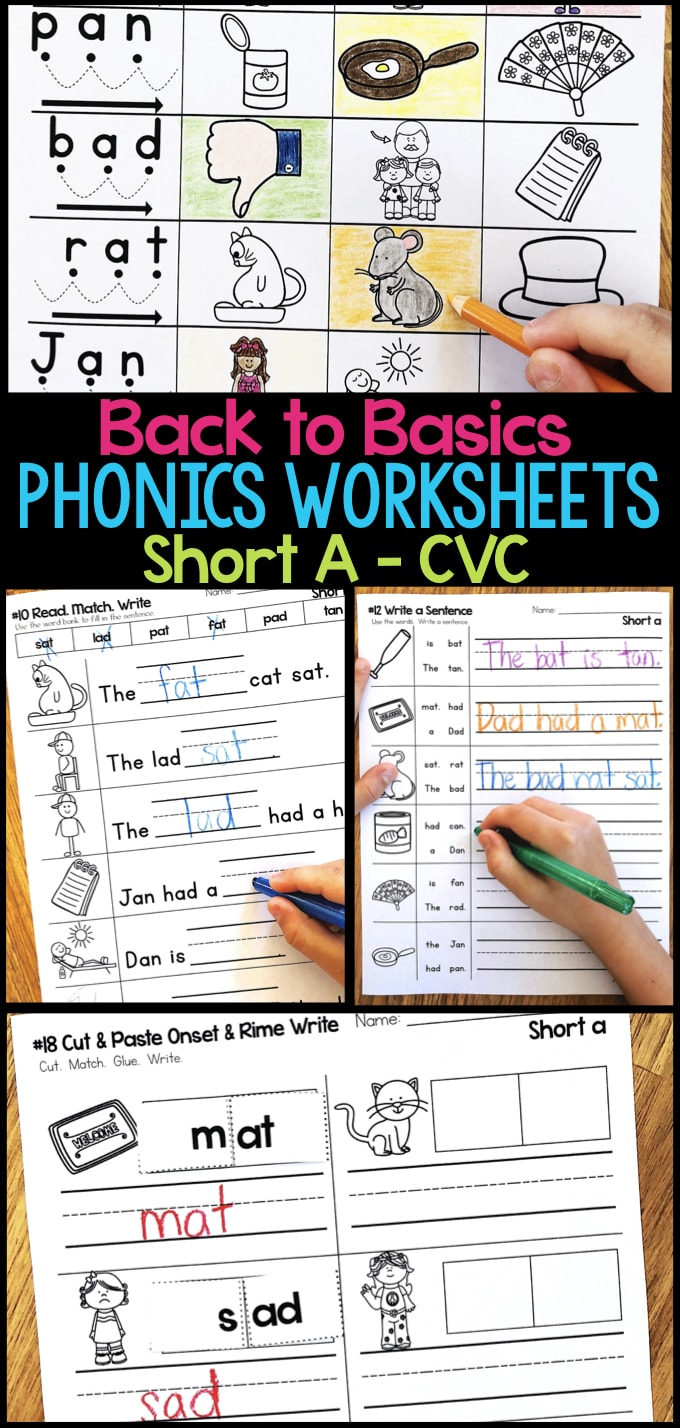 Short a phonics worksheets short a cvc words do you need some new phonics activities these short a phonics worksheets give students practice ibookread ePUb