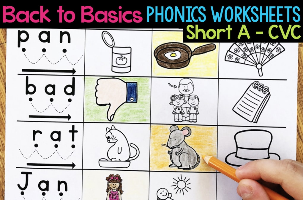 Short A Phonics Worksheets Short A Cvc Words