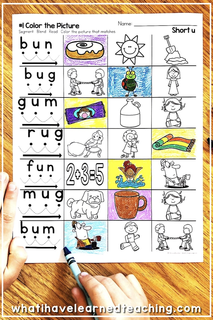 Worksheets Short U Worksheets back to basics phonics worksheets what i have learned these short u give students practice reading and writing cvc words by
