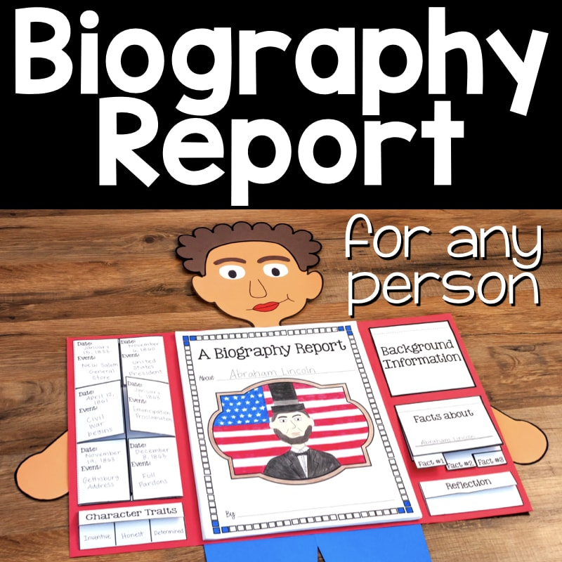 Biography Book Covers: Biography Report For ANY Person • What I Have Learned
