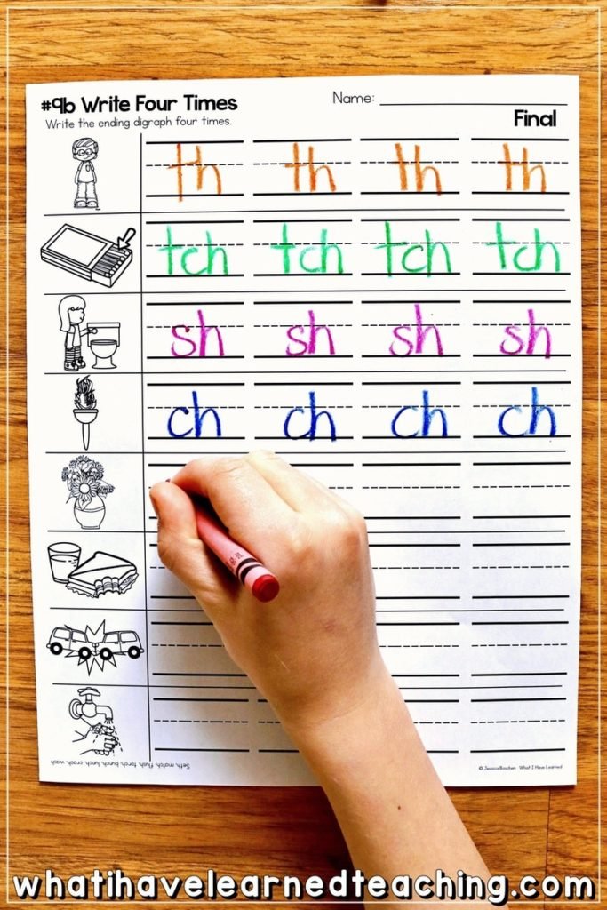 Digraph Phonics Worksheets Activities For Elementary Students
