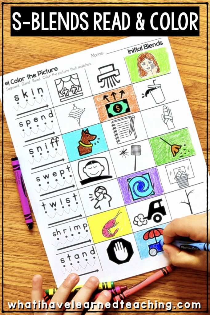 photo regarding Printable Literacy Centers First Grade known as Phonics Worksheets for First and Last Blends