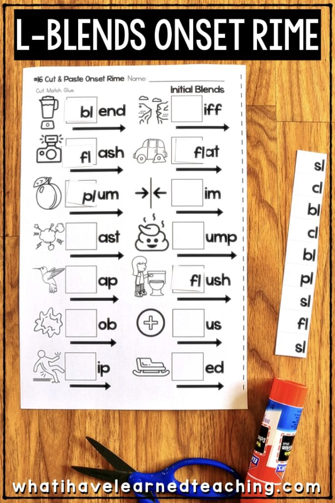 Phonics Worksheets For Initial And Final Blends