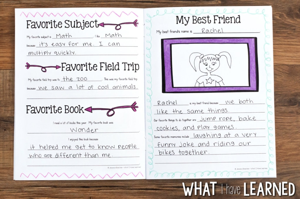 graphic regarding Printable Autograph Book for Students called Finish-of-the-12 months Memory Ebook Routines