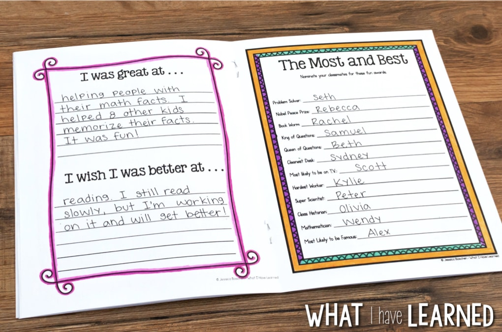 picture about Printable Autograph Book for Students known as Conclusion-of-the-12 months Memory Guide Routines