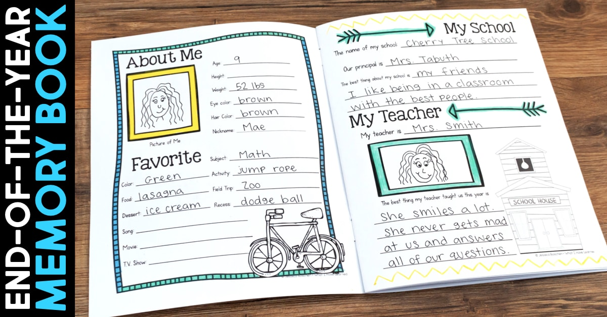 photograph about Printable Autograph Book for Students called Finish-of-the-Yr Memory Ebook Pursuits