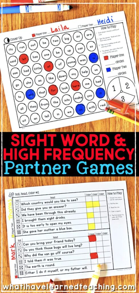 free sight words games