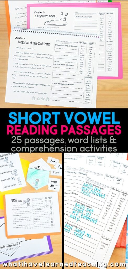 Phonics Passages For Short Vowels